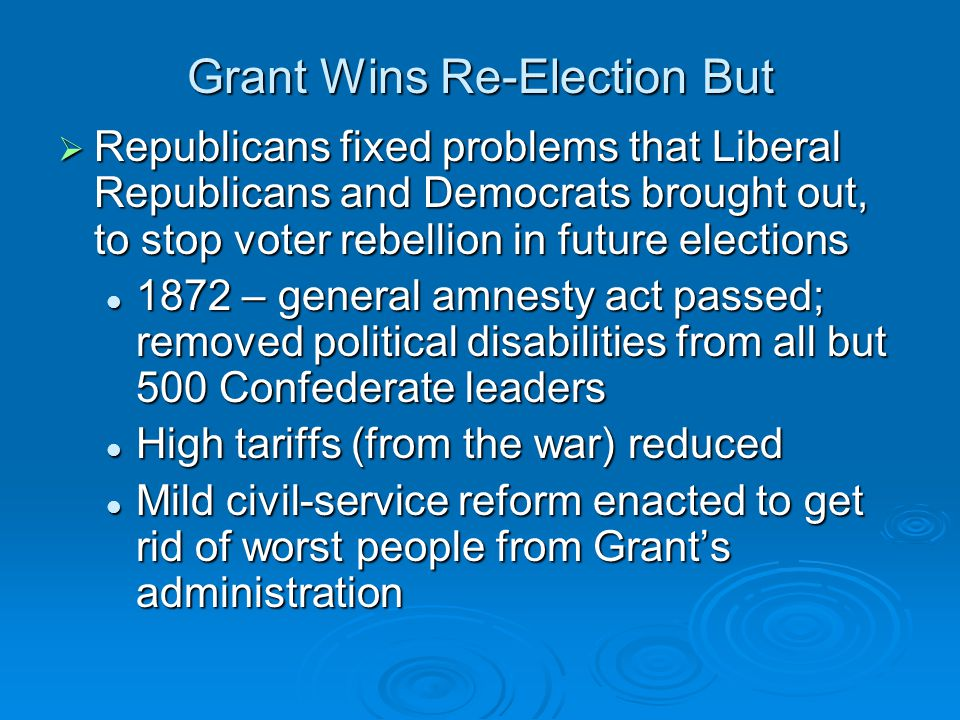 Grant Wins Re-Election But