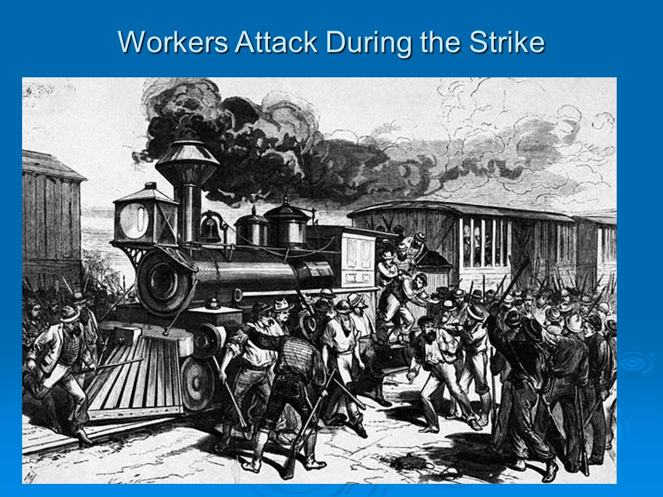 Workers Attack During the Strike