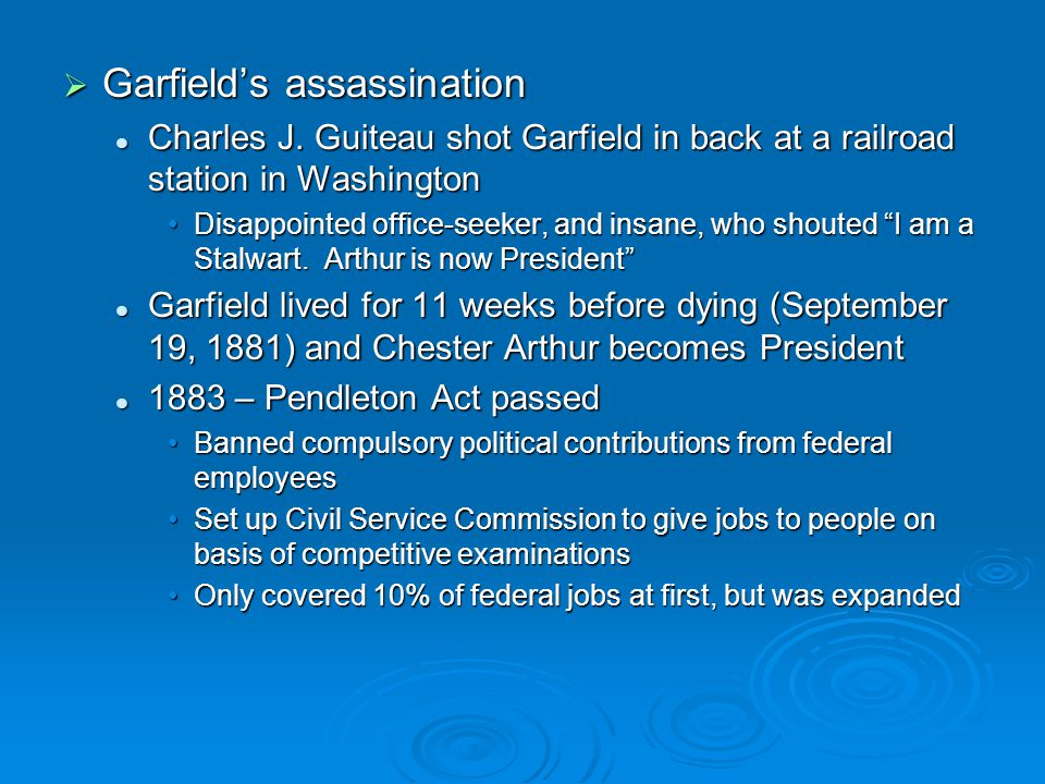 Garfield's assassination