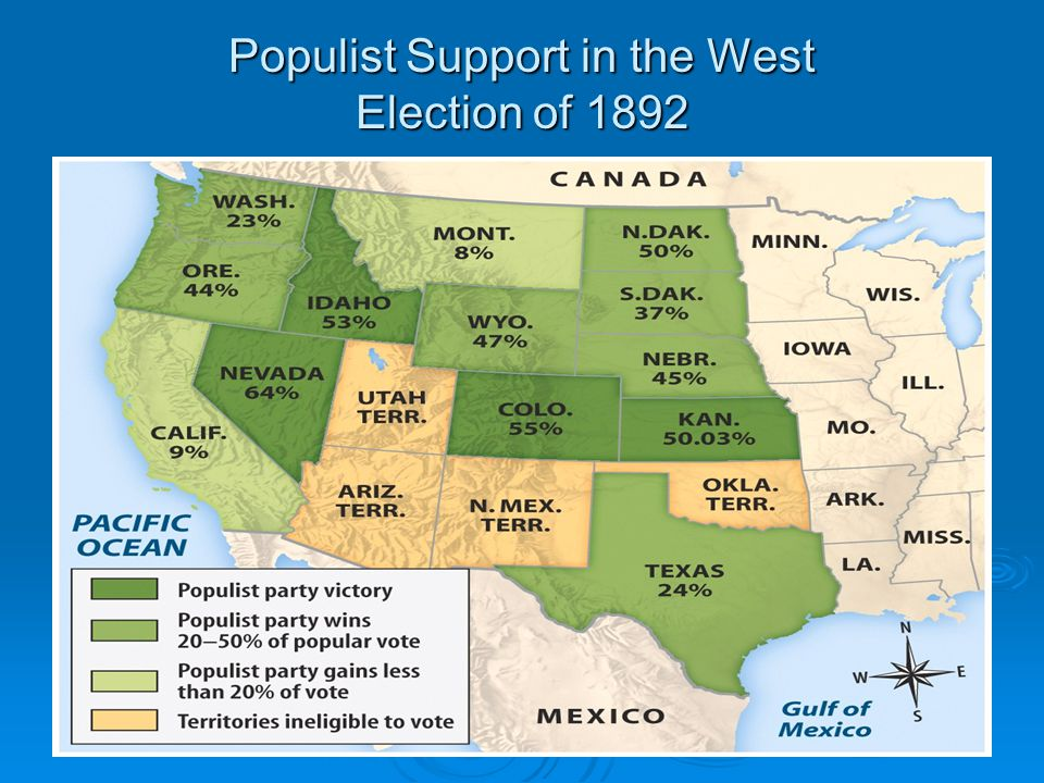 Populist Support in the West Election of 1892