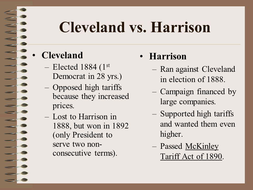 Cleveland vs. Harrison Cleveland Harrison
