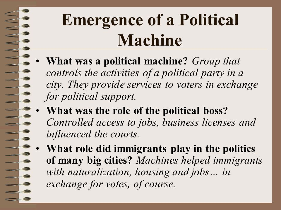 Emergence of a Political Machine
