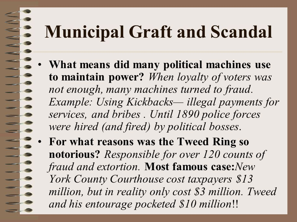 Municipal Graft and Scandal