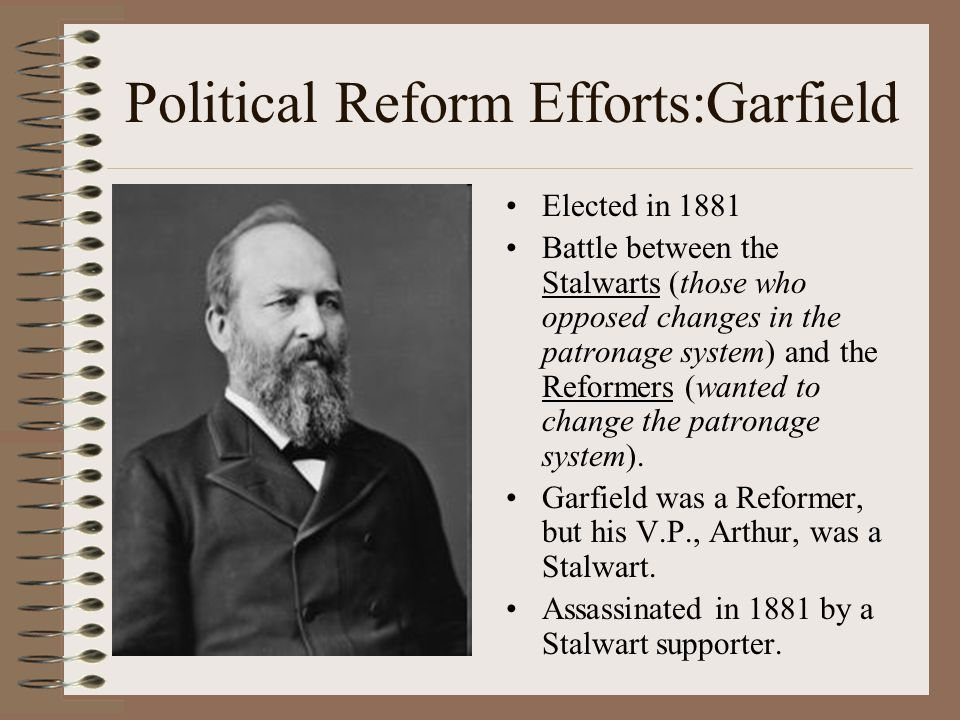 Political Reform Efforts:Garfield