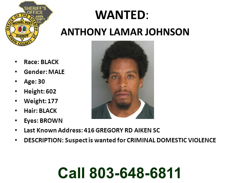 WANTED: ANTHONY LAMAR JOHNSON