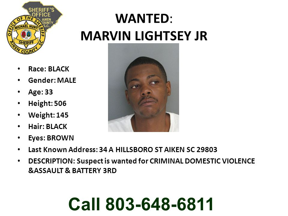 WANTED: MARVIN LIGHTSEY JR
