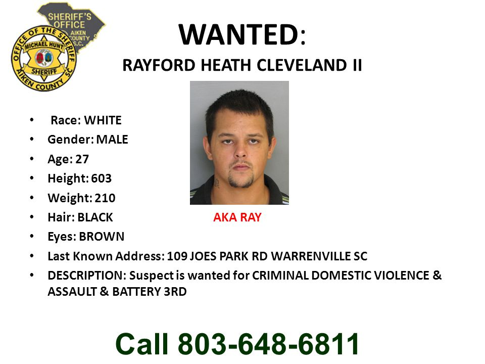 WANTED: RAYFORD HEATH CLEVELAND II