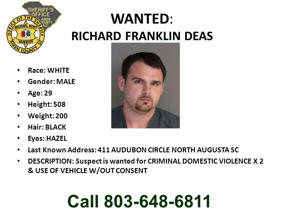WANTED: RICHARD FRANKLIN DEAS