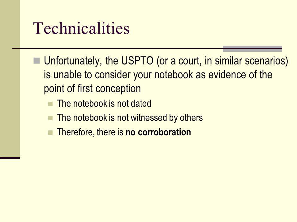 Technicalities