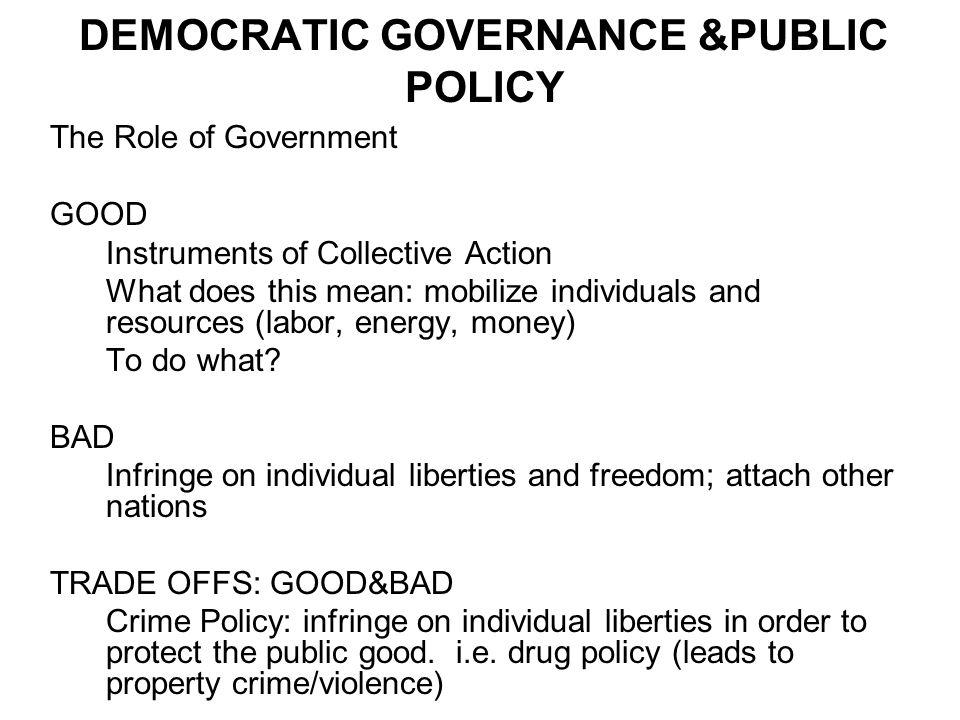 DEMOCRATIC GOVERNANCE &PUBLIC POLICY