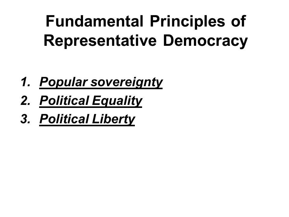Fundamental Principles of Representative Democracy