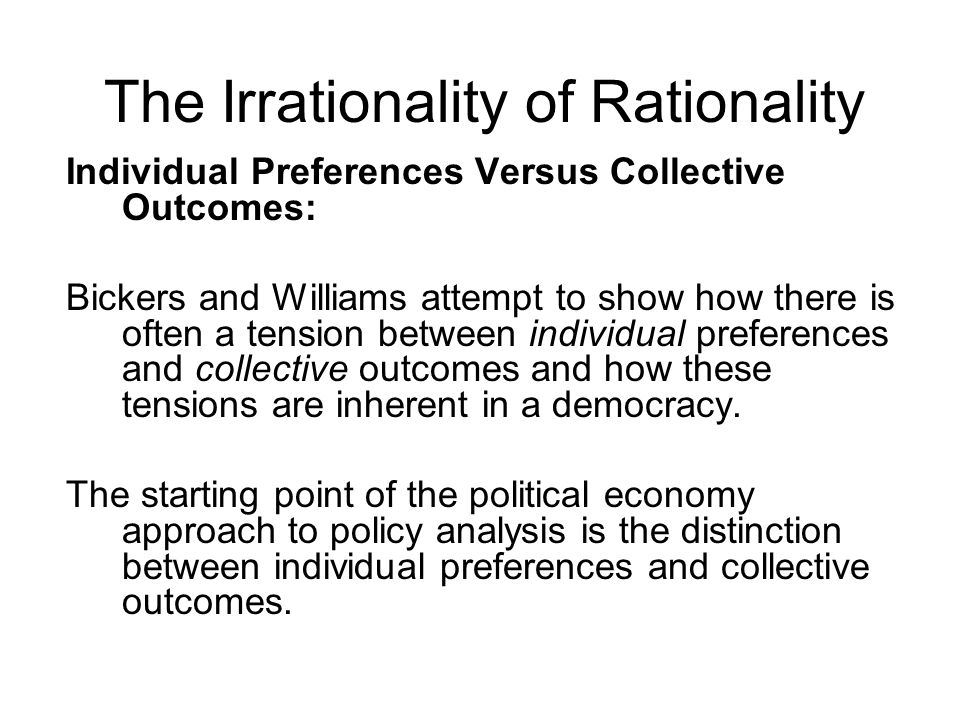 The Irrationality of Rationality