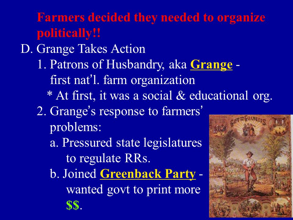 Farmers decided they needed to organize