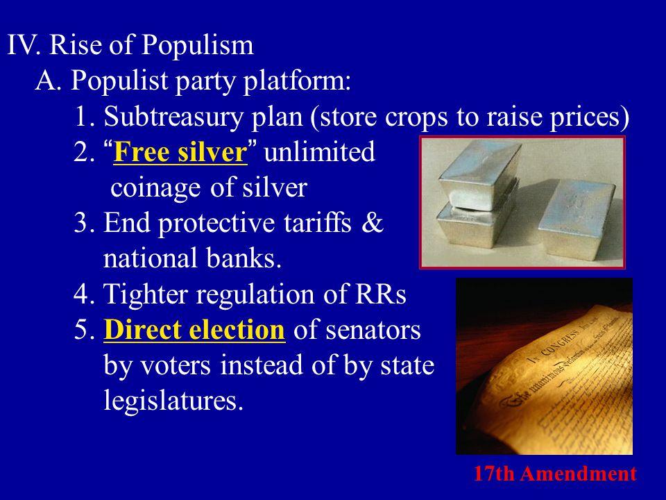A. Populist party platform:
