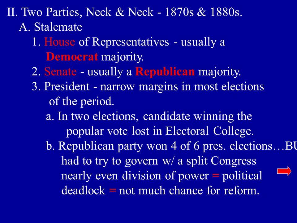 II. Two Parties, Neck & Neck - 1870s & 1880s.