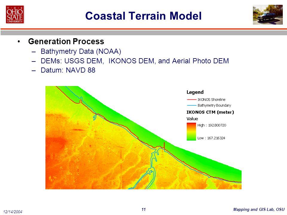 Coastal Terrain Model Generation Process Bathymetry Data (NOAA)