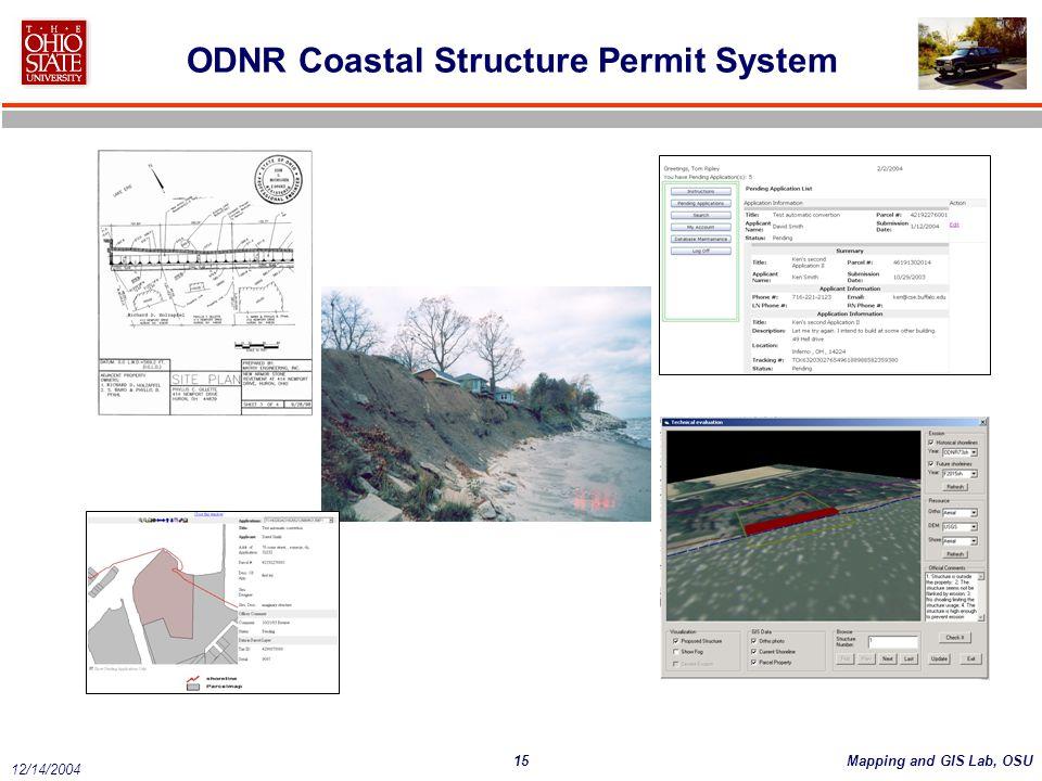 ODNR Coastal Structure Permit System