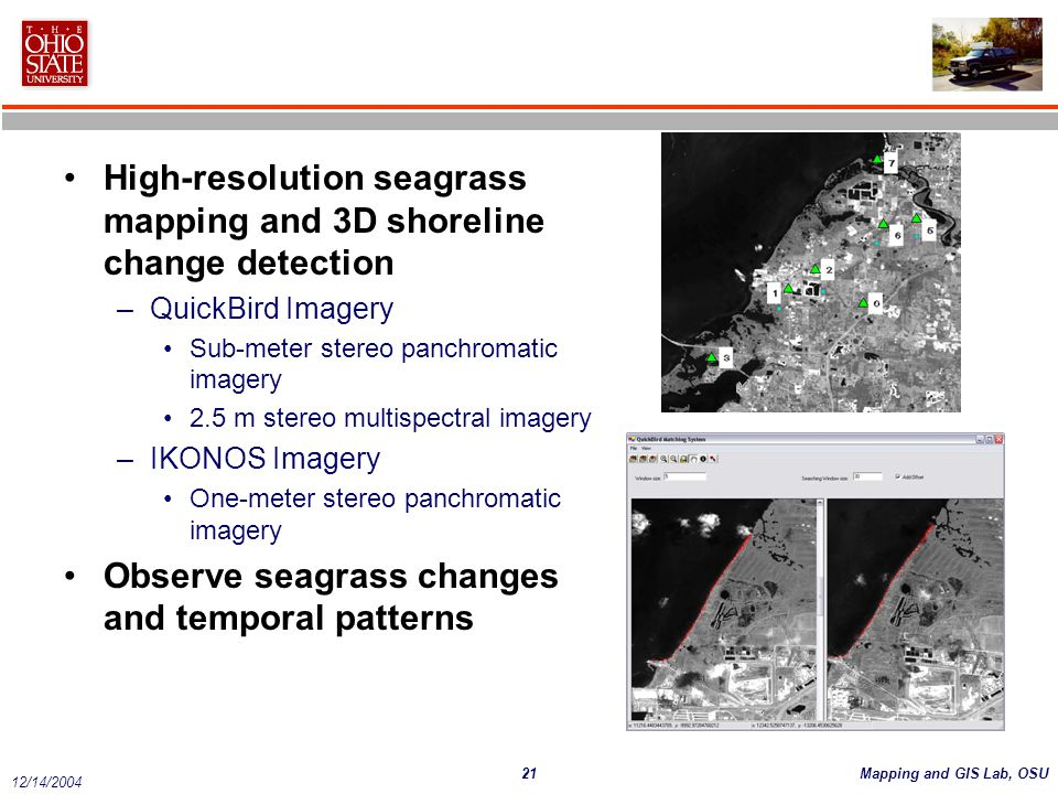 High-resolution seagrass mapping and 3D shoreline change detection