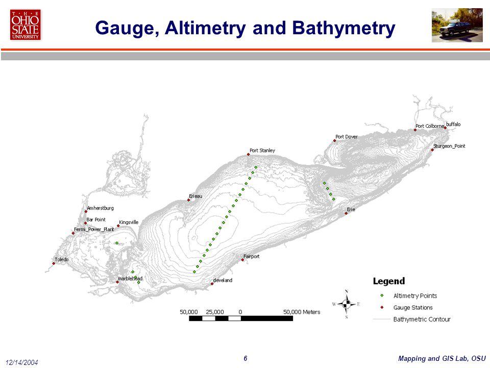 Gauge, Altimetry and Bathymetry