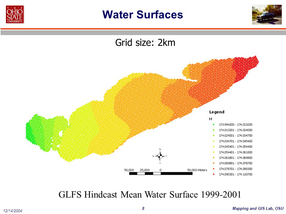 Water Surfaces Grid size: 2km
