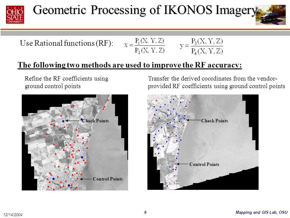 Geometric Processing of IKONOS Imagery