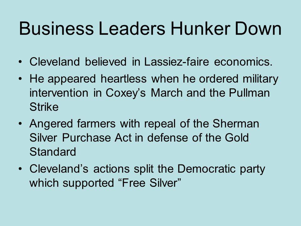 Business Leaders Hunker Down