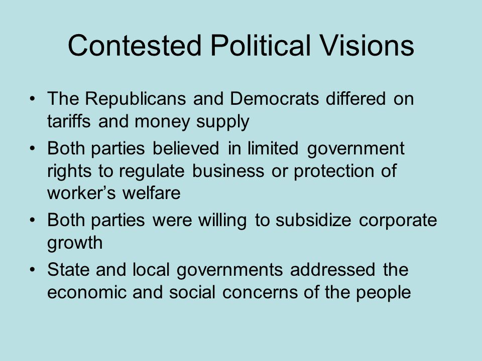 Contested Political Visions