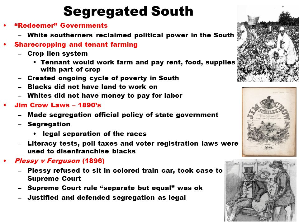 Segregated South Redeemer Governments