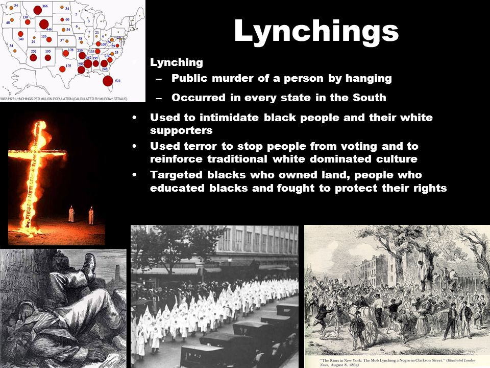 Lynchings Lynching Public murder of a person by hanging