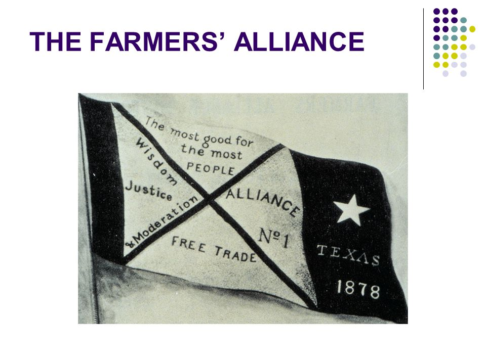 THE FARMERS' ALLIANCE