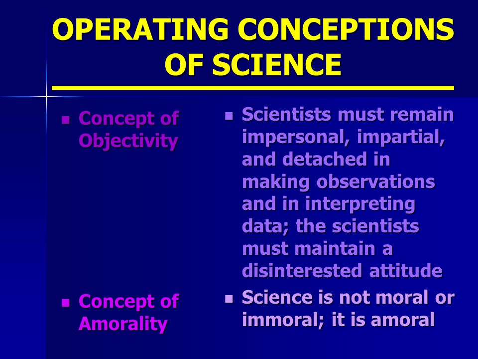 OPERATING CONCEPTIONS OF SCIENCE