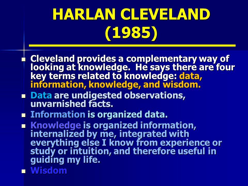 HARLAN CLEVELAND (1985)