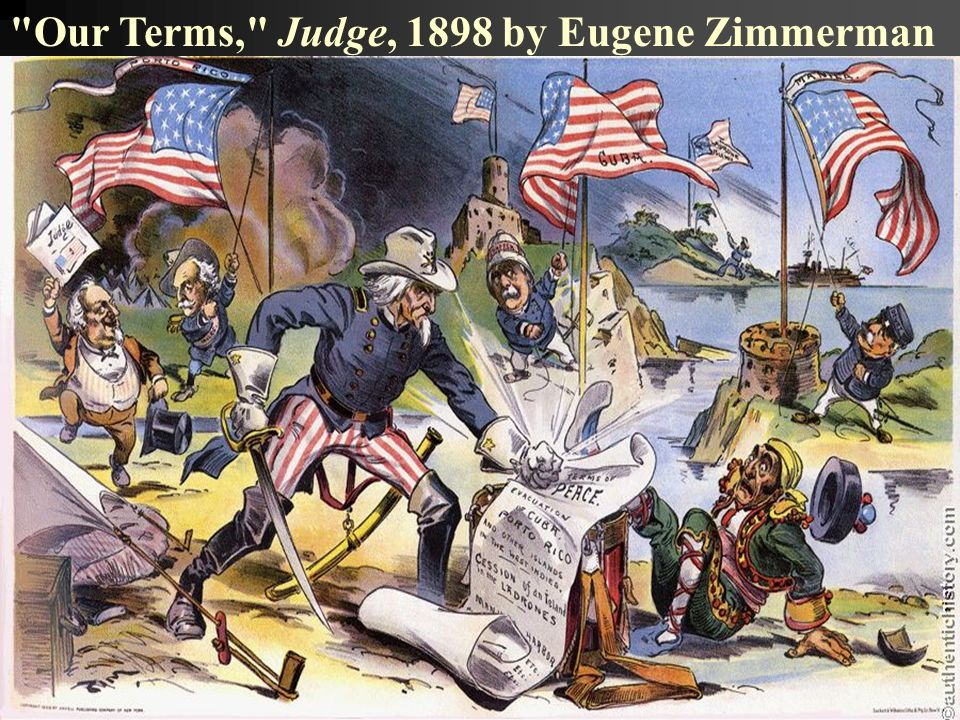 Our Terms, Judge, 1898 by Eugene Zimmerman