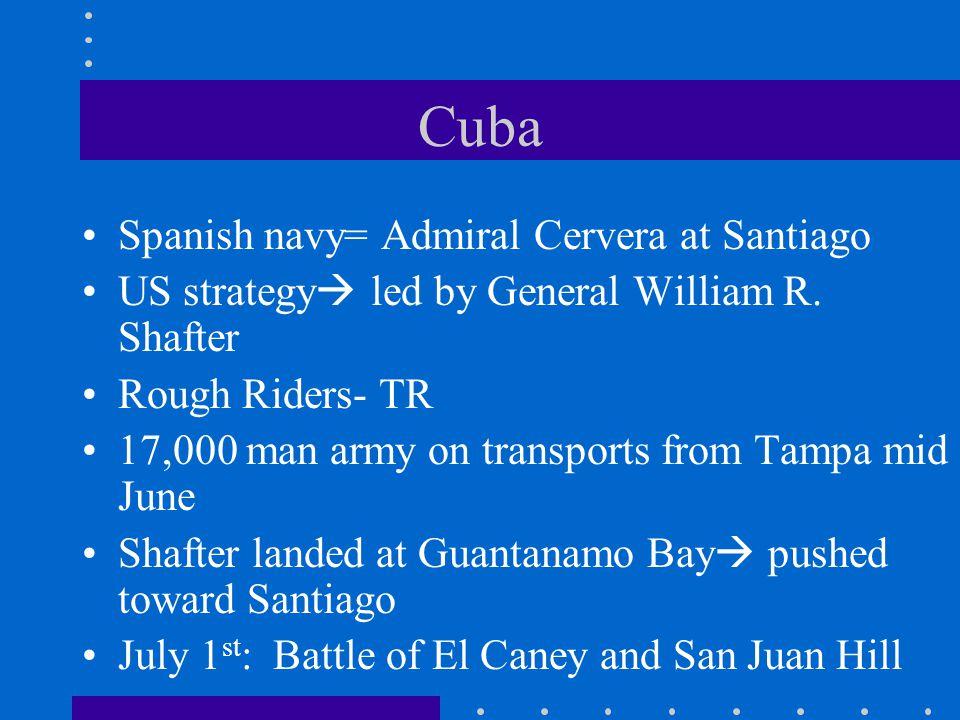 Cuba Spanish navy= Admiral Cervera at Santiago