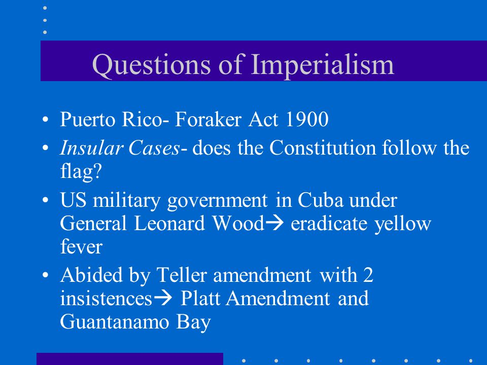 Questions of Imperialism