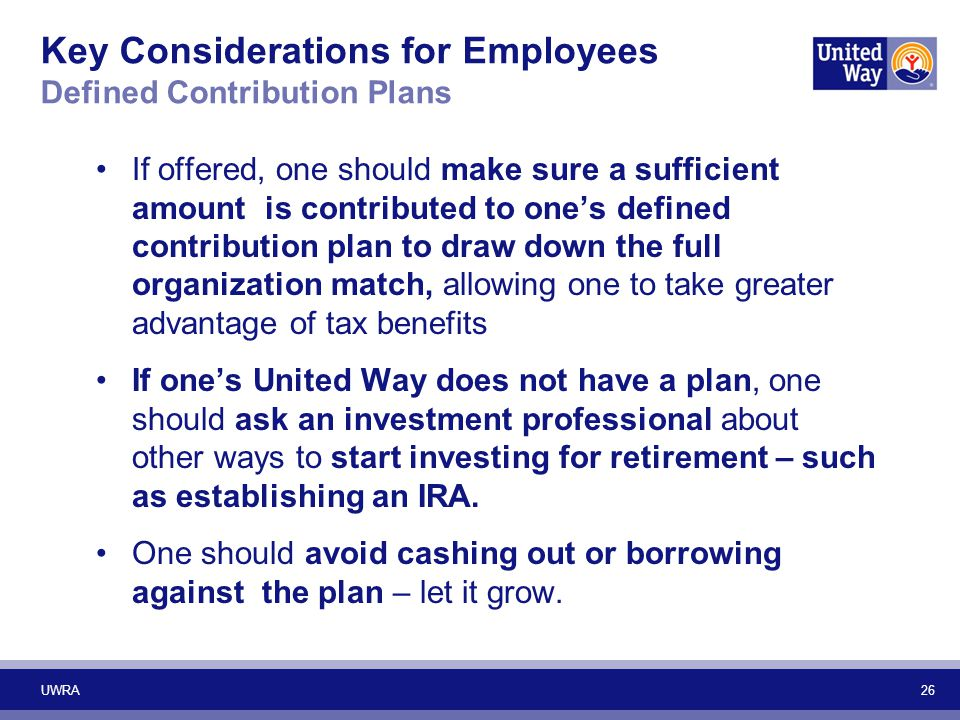 Key Considerations for Employees Defined Contribution Plans