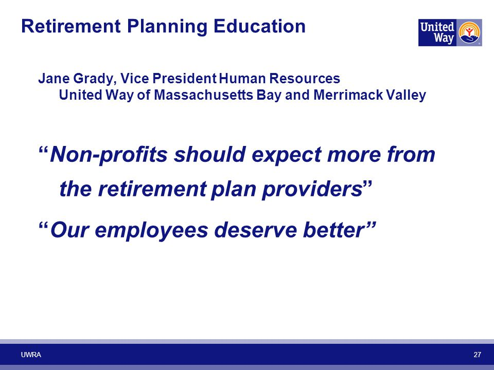 Retirement Planning Education