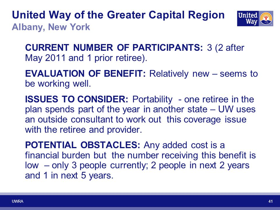 United Way of the Greater Capital Region Albany, New York
