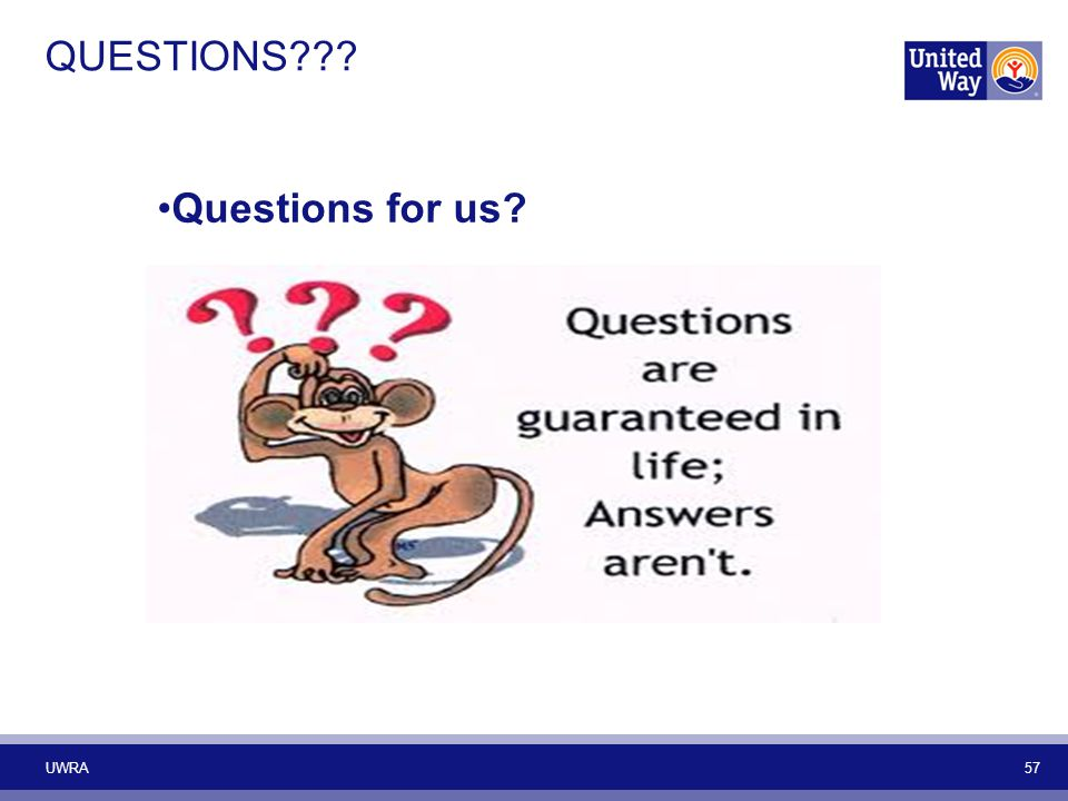 QUESTIONS Questions for us UWRA