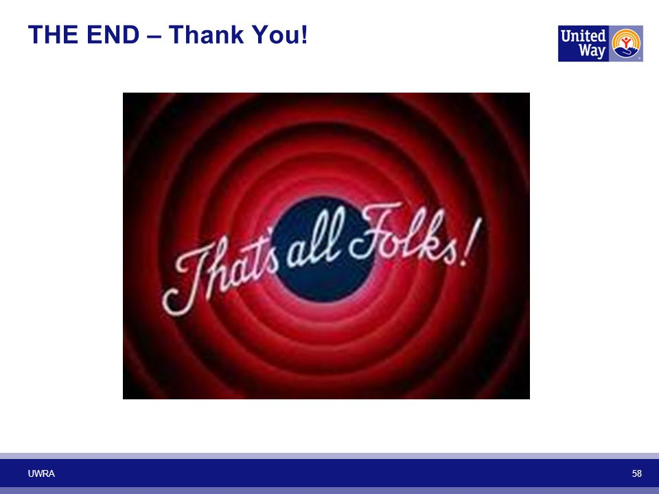 THE END – Thank You! UWRA