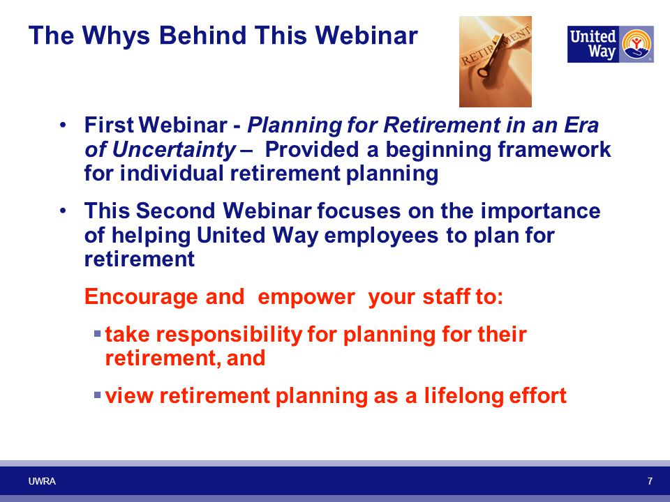 The Whys Behind This Webinar