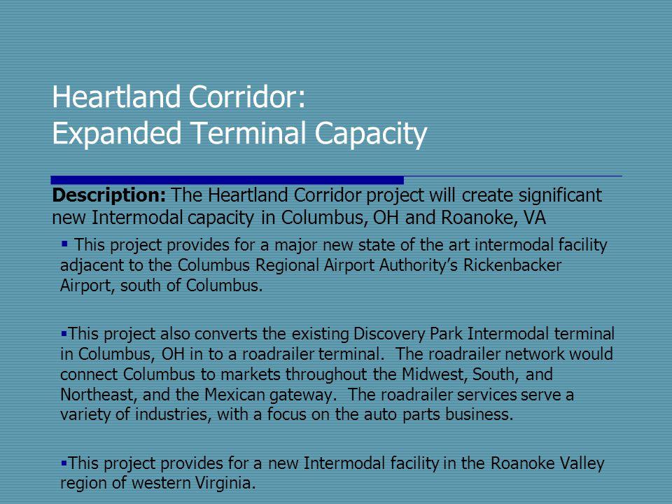 Heartland Corridor: Expanded Terminal Capacity