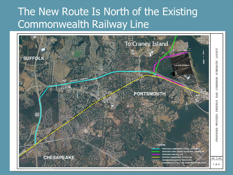 The New Route Is North of the Existing Commonwealth Railway Line