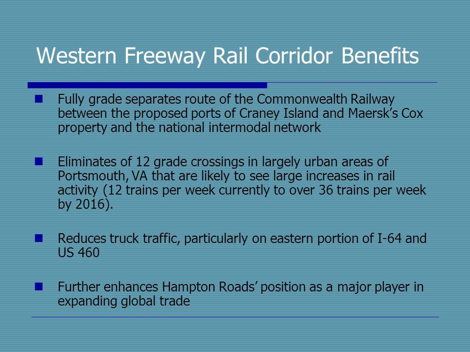 Western Freeway Rail Corridor Benefits