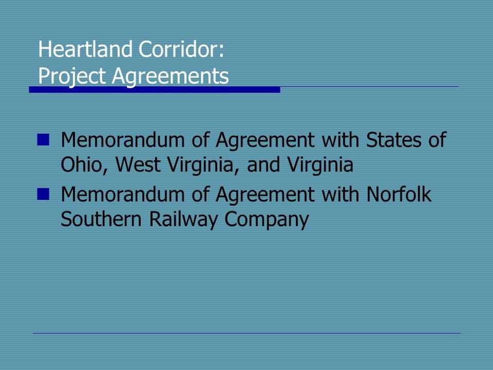 Heartland Corridor: Project Agreements