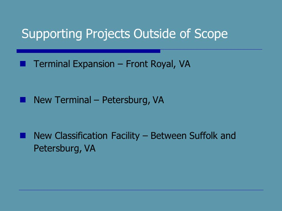 Supporting Projects Outside of Scope