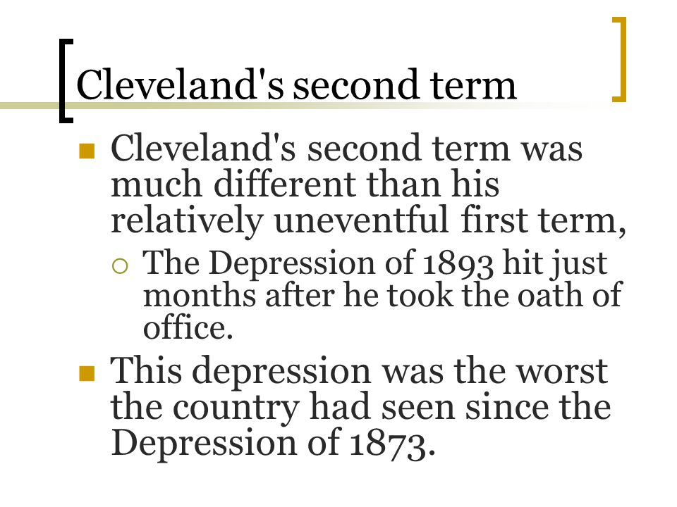 Cleveland s second term