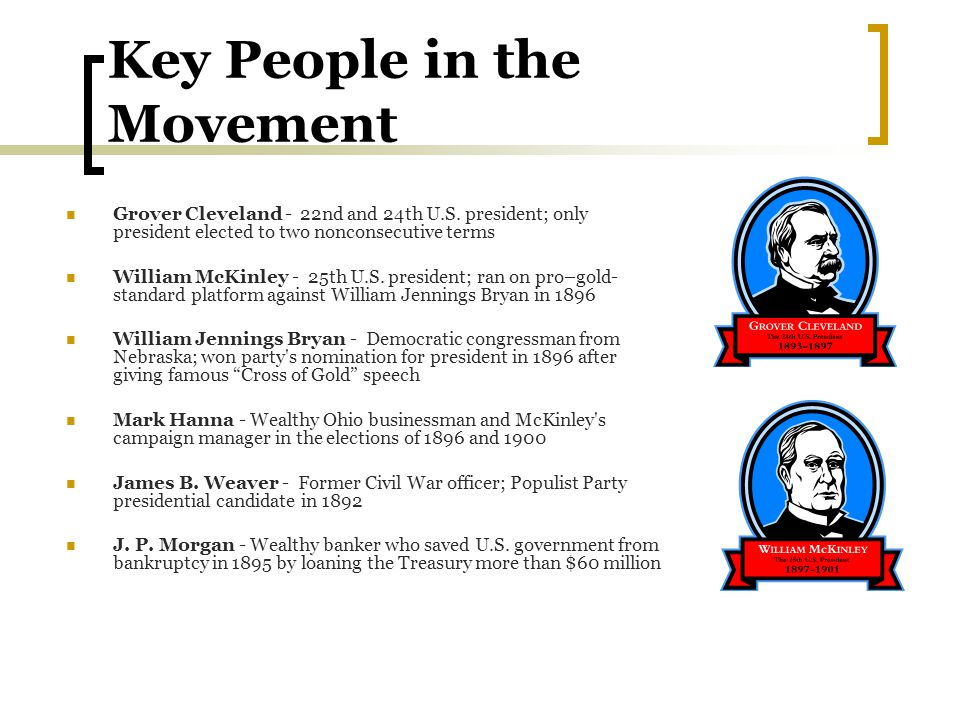 Key People in the Movement