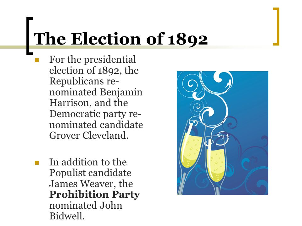 The Election of 1892