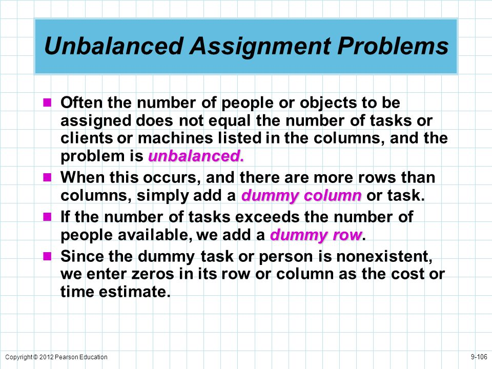 Unbalanced Assignment Problems